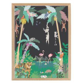 Affiche encadrée - Jungle (30x40)