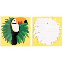 8 invitations - toucan