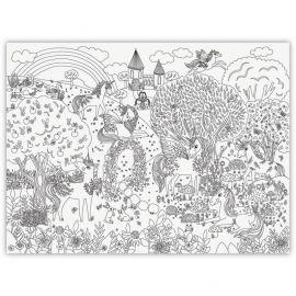 Giant Coloring Poster - Unicorn Garden