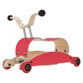 Mini-Flip 3-en-1 trotteur-bébé rouge + rouge + rouge